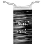 Black an white  Chill out  Jewelry Bags Back