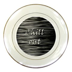 Black an white  Chill out  Porcelain Plates