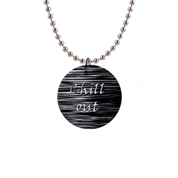 Black an white  Chill out  Button Necklaces