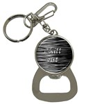 Black an white  Chill out  Bottle Opener Key Chains Front