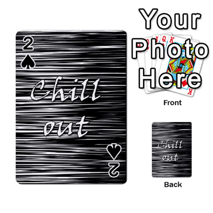 Black an white  Chill out  Playing Cards 54 Designs
