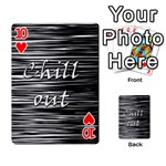 Black an white  Chill out  Playing Cards 54 Designs  Front - Heart10