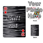 Black an white  Chill out  Playing Cards 54 Designs  Front - Diamond10