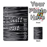 Black an white  Chill out  Playing Cards 54 Designs  Front - Joker1