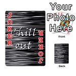 Black an white  Chill out  Playing Cards 54 Designs  Front - Joker2