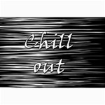 Black an white  Chill out  Collage Prints 18 x12 Print - 2