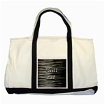 Black an white  Chill out  Two Tone Tote Bag Front