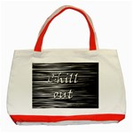 Black an white  Chill out  Classic Tote Bag (Red) Front