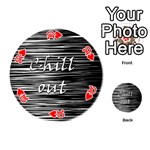 Black an white  Chill out  Playing Cards 54 (Round)  Front - Heart10