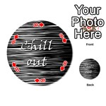 Black an white  Chill out  Playing Cards 54 (Round)  Front - Diamond8