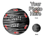 Black an white  Chill out  Playing Cards 54 (Round)  Front - DiamondJ