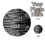 Black an white  Chill out  Playing Cards 54 (Round)  Front - Spade10