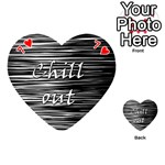Black an white  Chill out  Playing Cards 54 (Heart)  Front - Heart7
