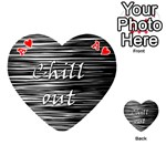 Black an white  Chill out  Playing Cards 54 (Heart)  Front - HeartA