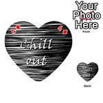 Black an white  Chill out  Playing Cards 54 (Heart)  Front - Diamond4