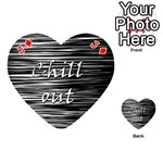 Black an white  Chill out  Playing Cards 54 (Heart)  Front - DiamondJ