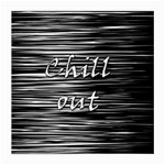 Black an white  Chill out  Medium Glasses Cloth (2-Side) Front