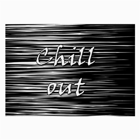 Black an white  Chill out  Large Glasses Cloth