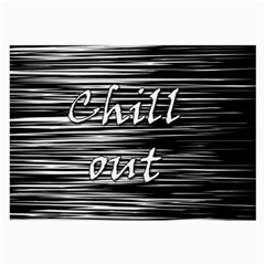 Black an white  Chill out  Large Glasses Cloth (2-Side)
