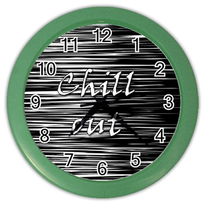 Black an white  Chill out  Color Wall Clocks
