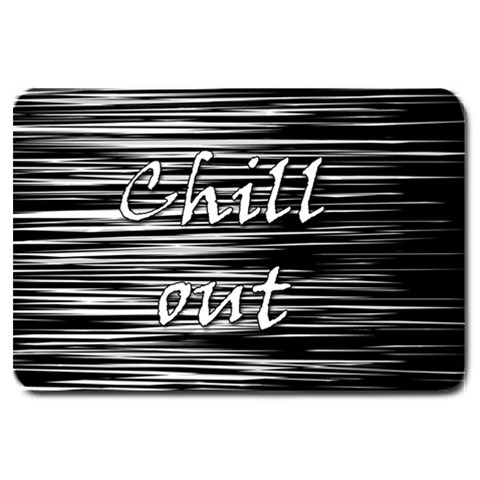 Black an white  Chill out  Large Doormat
