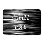 Black an white  Chill out  Plate Mats 18 x12 Plate Mat - 1
