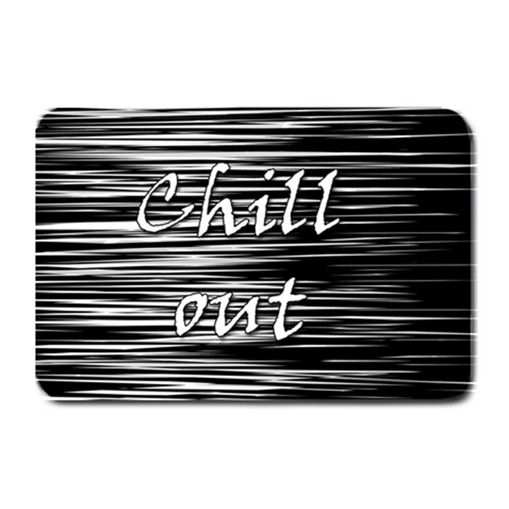Black an white  Chill out  Plate Mats
