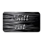 Black an white  Chill out  Medium Bar Mats 16 x8.5 Bar Mat - 1