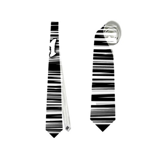 Black an white  Chill out  Neckties (Two Side)