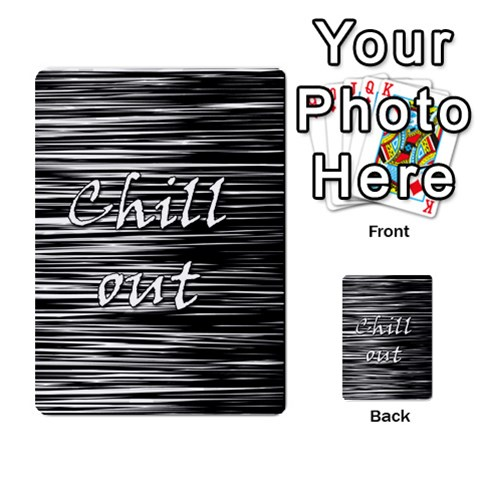 Black an white  Chill out  Multi-purpose Cards (Rectangle)