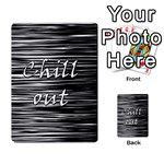 Black an white  Chill out  Multi-purpose Cards (Rectangle)  Back 4