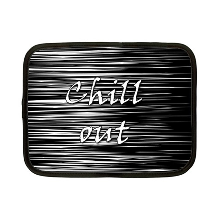 Black an white  Chill out  Netbook Case (Small)