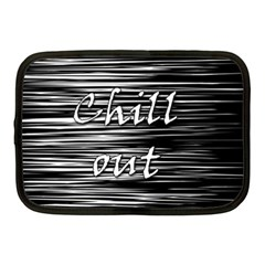 Black An White  chill Out  Netbook Case (medium)