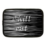 Black an white  Chill out  Netbook Case (Medium)  Front