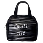 Black an white  Chill out  Classic Handbags (One Side) Front