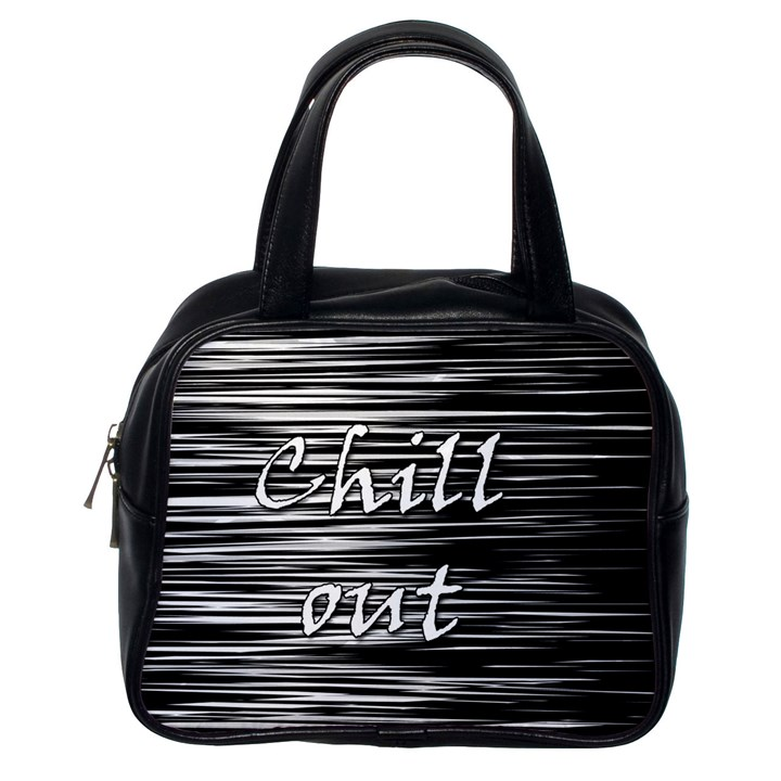 Black an white  Chill out  Classic Handbags (One Side)