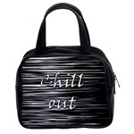 Black an white  Chill out  Classic Handbags (2 Sides) Front