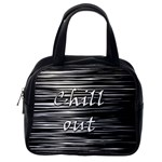 Black an white  Chill out  Classic Handbags (2 Sides) Back