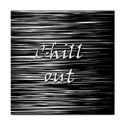 Black an white  Chill out  Face Towel