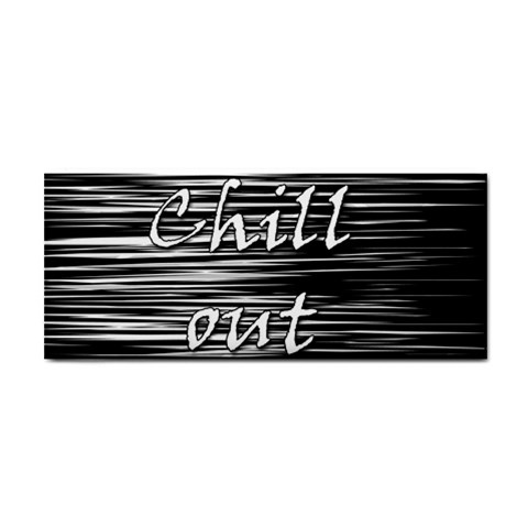 Black an white  Chill out  Hand Towel