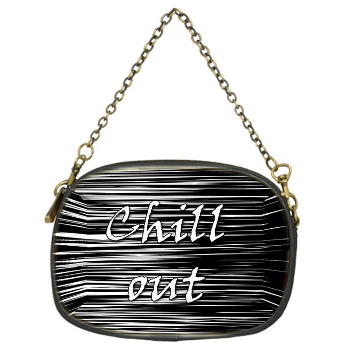 Black an white  Chill out  Chain Purses (One Side)