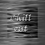 Black an white  Chill out  Mini Canvas 4  x 4  4  x 4  x 0.875  Stretched Canvas
