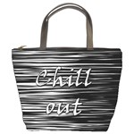Black an white  Chill out  Bucket Bags Front