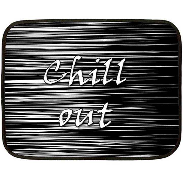 Black an white  Chill out  Fleece Blanket (Mini)