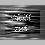 Black an white  Chill out  Mini Canvas 6  x 4  6  x 4  x 0.875  Stretched Canvas