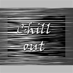 Black an white  Chill out  Mini Canvas 7  x 5  7  x 5  x 0.875  Stretched Canvas