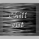 Black an white  Chill out  Canvas 10  x 8  10  x 8  x 0.875  Stretched Canvas