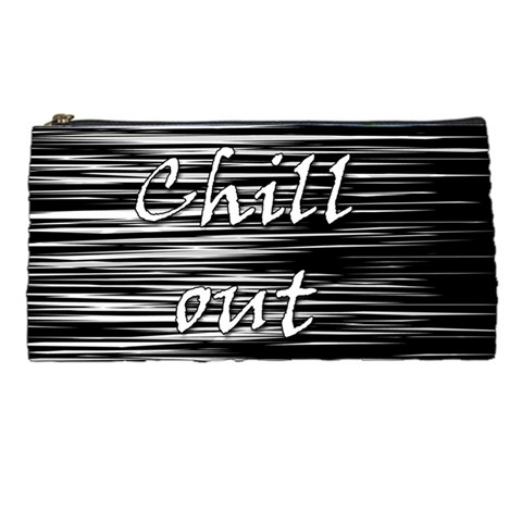 Black an white  Chill out  Pencil Cases