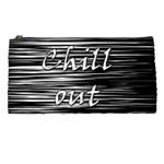 Black an white  Chill out  Pencil Cases Front