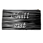 Black an white  Chill out  Pencil Cases Back